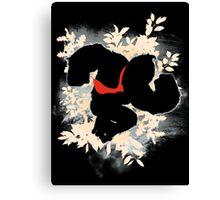 Super Smash Bros. White Donkey Kong Silhouette Canvas Print