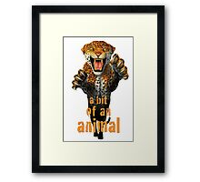 Leaping Leopard - a bit of an animal Framed Print