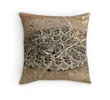 Mohave Rattler ~ Deadly Patience Throw Pillow