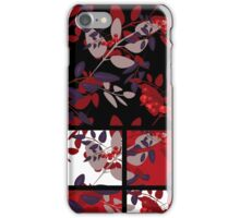 Patchwork retro autumn rowanberry pattern texture iPhone Case/Skin