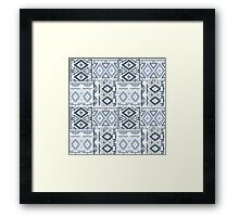 Seamless patchwork of gray color Framed Print