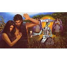 M Blackwell - Adam and Eve Refuse the Robot's Dog-Bone Photographic Print