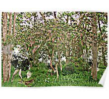 Darcie's Dash thru Enchanted Forest, digital image on german etching paper, A3 size Poster