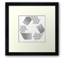 Recycle Newspaper Symbol Framed Print