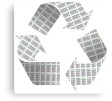 Recycle Newspaper Symbol Canvas Print