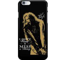 Rock singer golden poster on black background iPhone Case/Skin