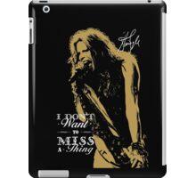 Rock singer golden poster on black background iPad Case/Skin