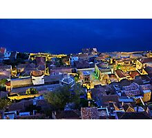 Medieval nights in Monemvasia Photographic Print