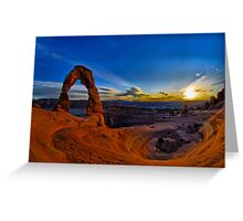 Delicate Arch HDR Greeting Card