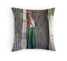 Mising tribe girl, Assam, India Throw Pillow