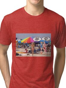 What Are You Looking At George? Tri-blend T-Shirt