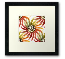 Seamless Red Hot Chilli Peppers Framed Print