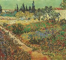 Blooming-Garden-with-Footpath,-Arles-1888 Vincent Willem van Gogh by Adam Asar