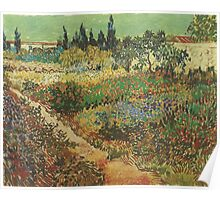 Blooming-Garden-with-Footpath,-Arles-1888 Vincent Willem van Gogh Poster