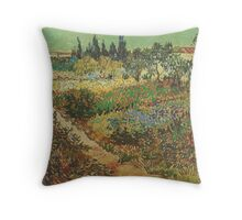 Blooming-Garden-with-Footpath,-Arles-1888 Vincent Willem van Gogh Throw Pillow
