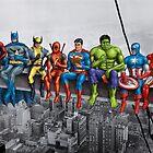 Superheroes on Girder by artybloke7