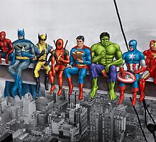 Superheroes on Girder by artybloke7