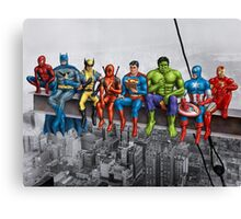 Superheroes on Girder Canvas Print
