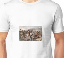 British cavalry charging against Russian forces at Balaclava in 1854 - Relief of the Light Brigade Unisex T-Shirt