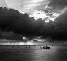 Dawn Cloudscape in Monochrome by Silken Photography