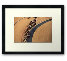 pursuit Cycling top view  Framed Print