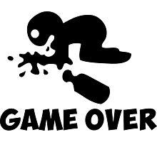 game over puke drunk cartoon funny Photographic Print