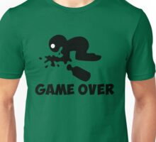 game over puke drunk cartoon funny Unisex T-Shirt