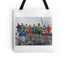 Superheroes on Girder Tote Bag