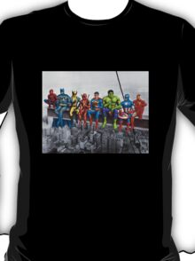 Superheroes on Girder T-Shirt