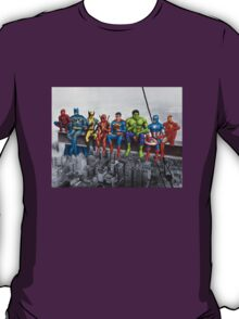 Superheroes on Girder T-Shirt