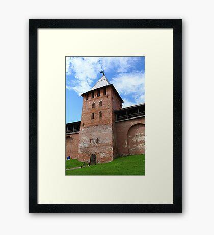 walls and towers of the Novgorod Kremlin Framed Print