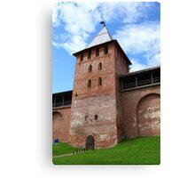 walls and towers of the Novgorod Kremlin Canvas Print