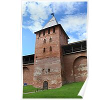 walls and towers of the Novgorod Kremlin Poster