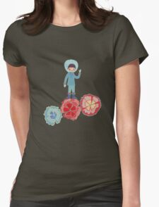 eskimo Flower Womens Fitted T-Shirt