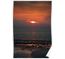 Orange Sunset Poster