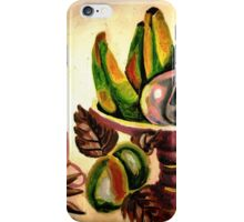 A still life of fruits and drinks iPhone Case/Skin