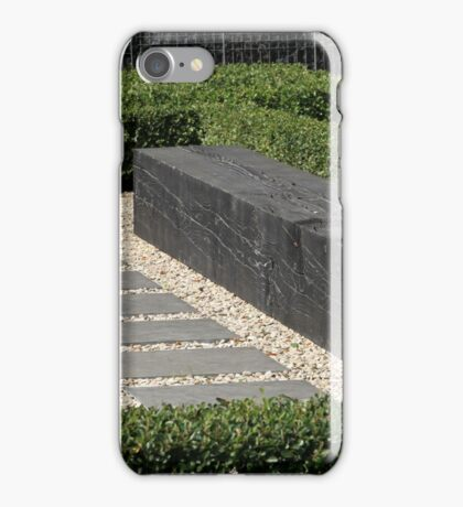 modern garden bench iPhone Case/Skin