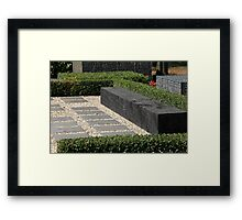 modern garden bench Framed Print