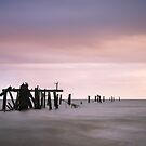 Shorncliffe Pier Supports by Silken Photography
