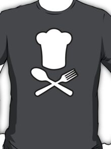 cook cuisinier chef spoon fork T-Shirt