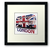 London Bus and Union Jack Framed Print