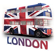 London Bus and Union Jack Photographic Print