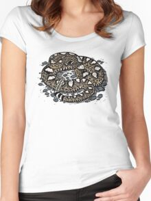 Rattlesnake! T-shirt Women's Fitted Scoop T-Shirt