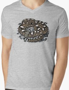 Rattlesnake! T-shirt Mens V-Neck T-Shirt