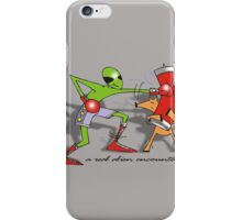 a real alien encounter iPhone Case/Skin