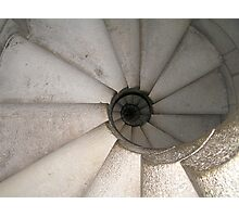 Snail shell staircase - Barcelona, Spain Photographic Print