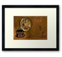 His Master's voice... Framed Print