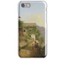 Carl Franz Michael Geyling 1814-1880 Scene of Hallstatt iPhone Case/Skin