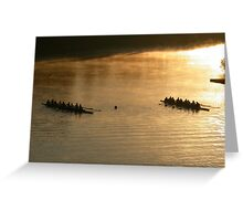 golden morning to row Greeting Card