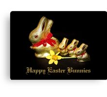 Chocolate Easter Bunnies Canvas Print